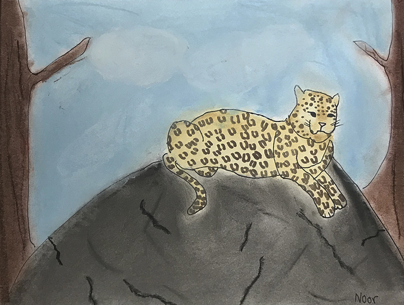 Leopard by Noor, age 9
