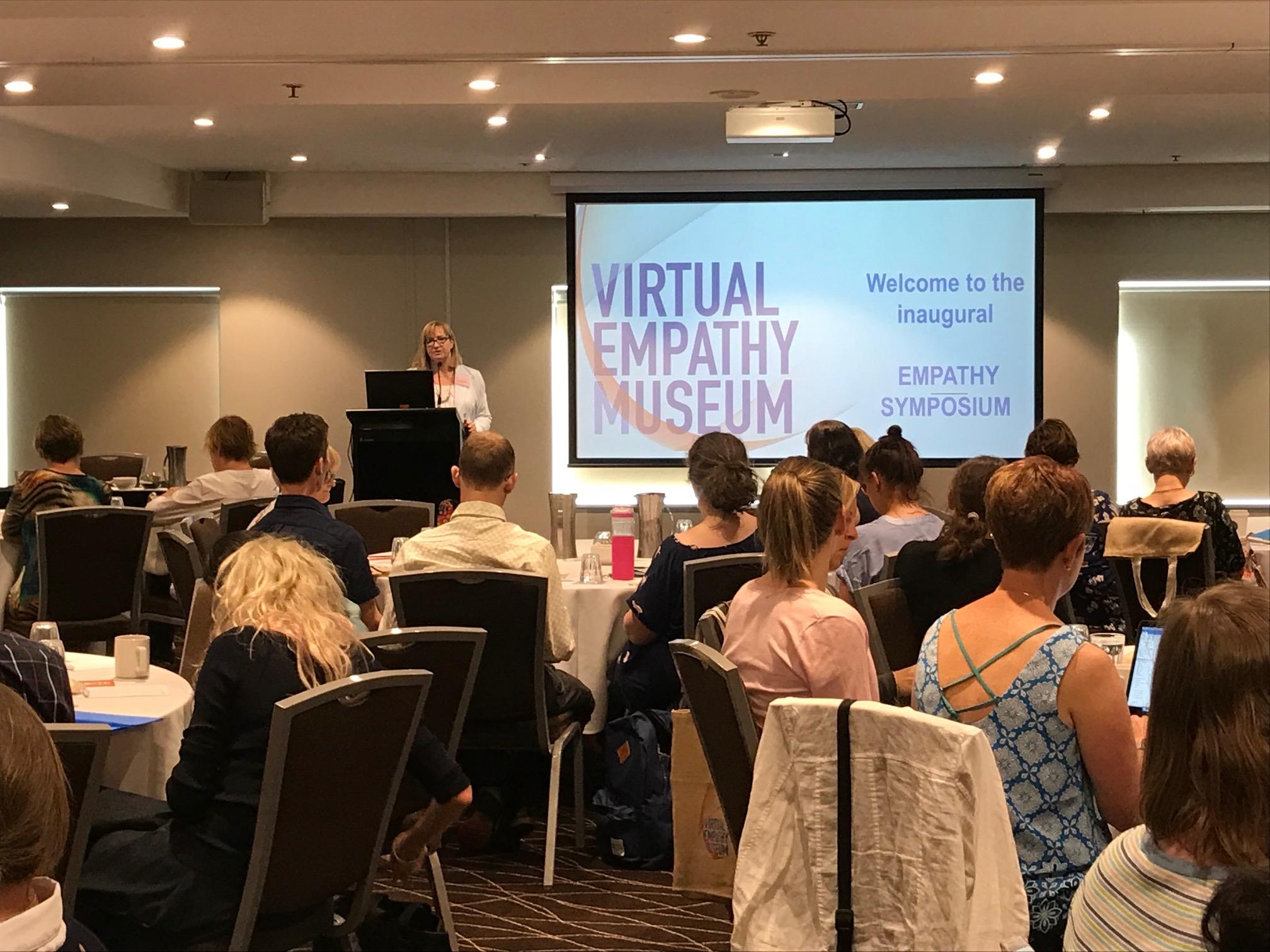 Tracy Levett-Jones providing opening address at the Empathy Symposium