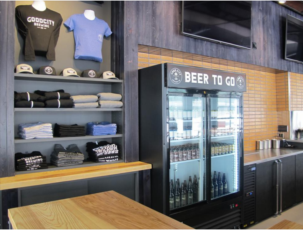 Good City Living Brewing Company Merchandise Display