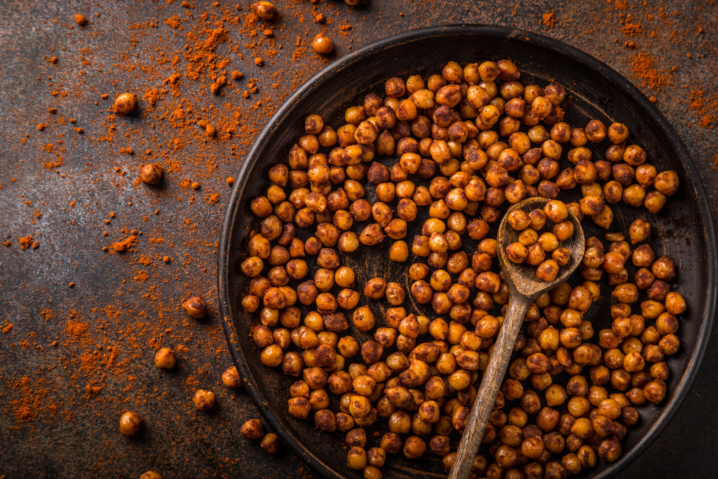 Spiced Roasted Chickpeas -
