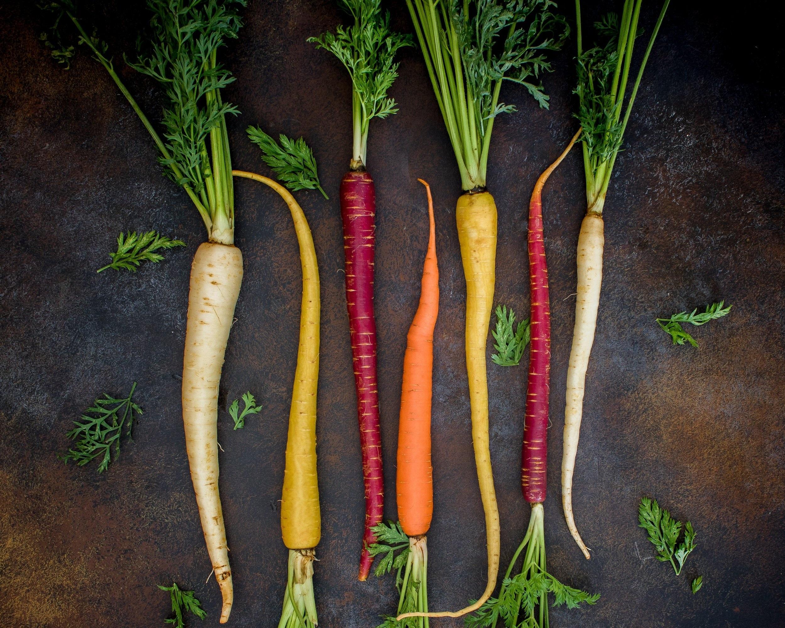 Roasted Rainbow Root Vegetables -