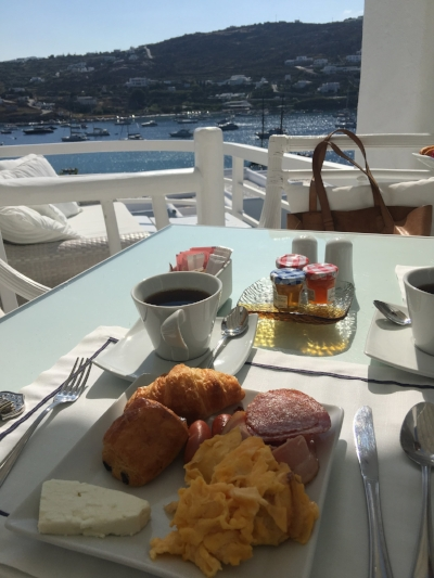 Free Breakfast provided by kivotos hotel in mykonos