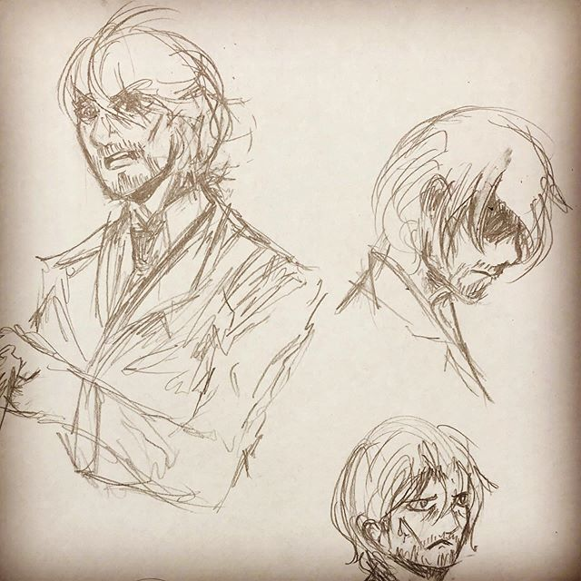 Caught up on a manga I love and it made me want to practice some facial expressions with Cass. #drawing #sketch #ofthislight #art #artistsoninstagram