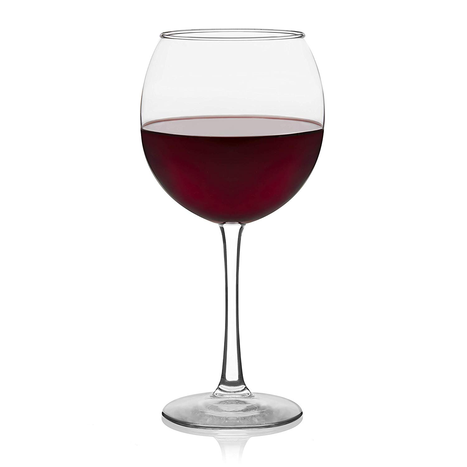 Libbey Vina Red Wine Glasses, Set of 6 - Deep-bowled balloon design allows gentle swirling and enhances aroma and flavor profile for the ideal red wine glass, perfect for hosting discerning guests or just enjoying a little