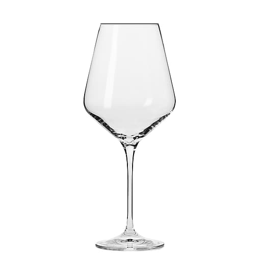 KROSNO Vera Red Wine Glasses, Set of 6 - Set of 6 modern red wine glasses with striking angular profile and spacious 16-oz. bowl
