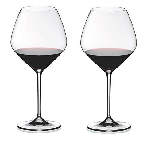 Riedel Heart to Heart Crystal Pinot Noir Wine Glass, Set of 2 - Set of 2 Heart to Heart Series Pinot Noir wine glasses