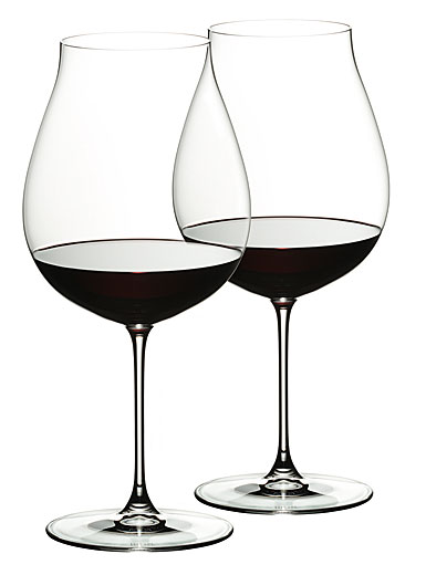 Riedel New World Pinot Noir Glass, Set of 2 - Set of 2 fine crystal Pinot Noir wine glasses