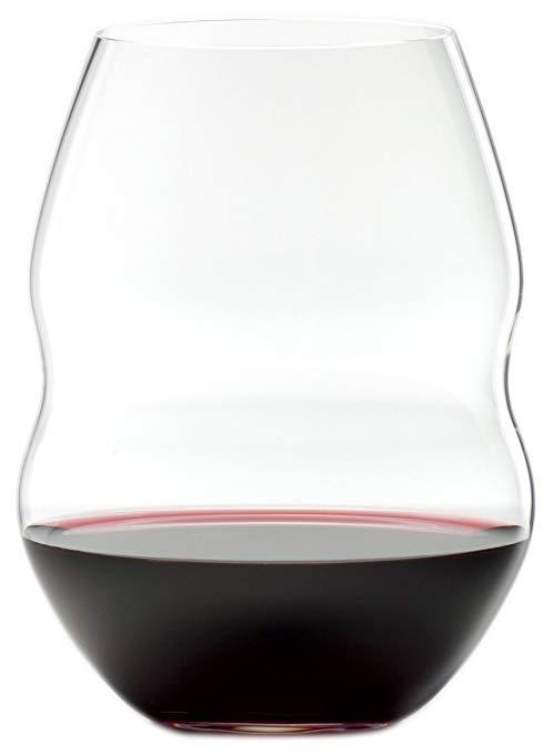 Riedel Swirl Red Wine Glasses, Set of 2 - Set of 2 stemless red wine glasses from the Swirl glass series.