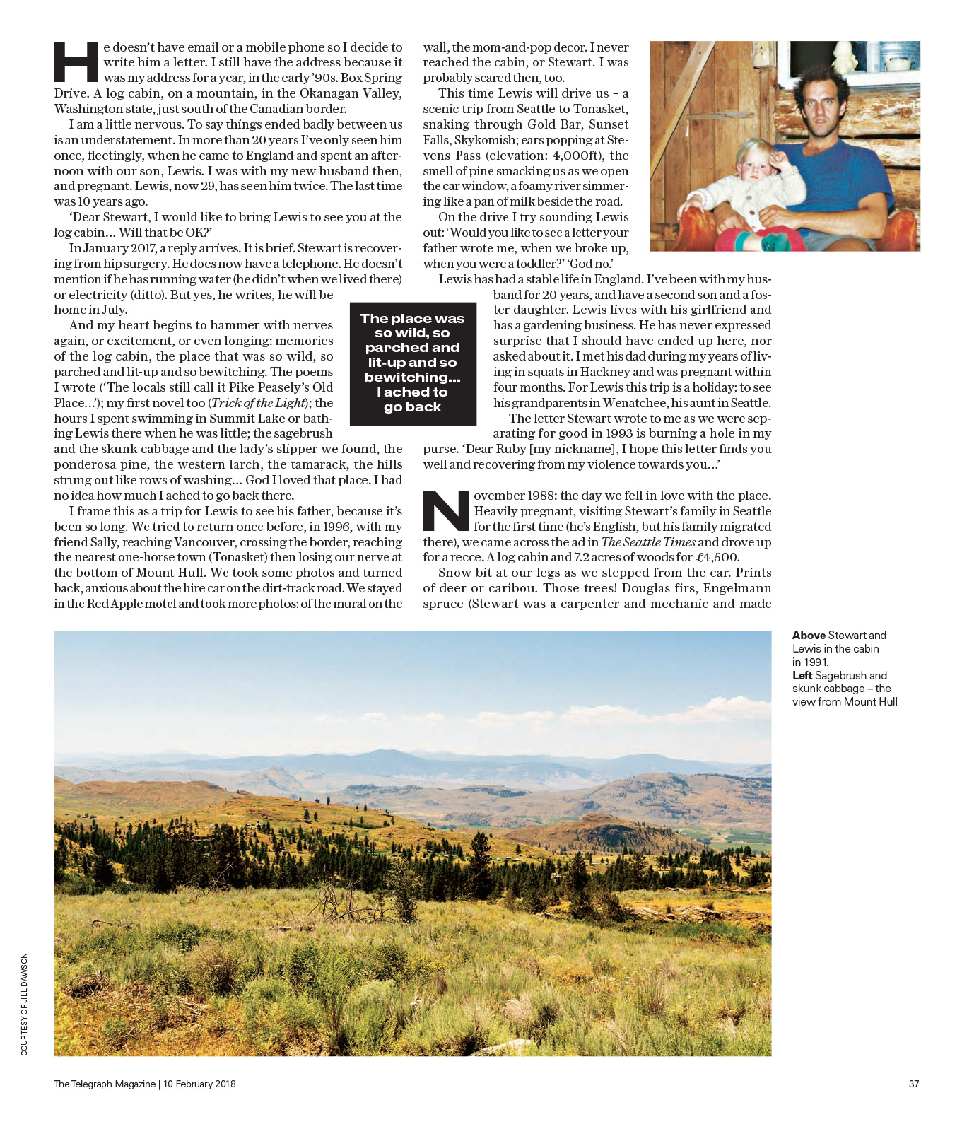 Jill Dawson story for Telegraph Magazine
