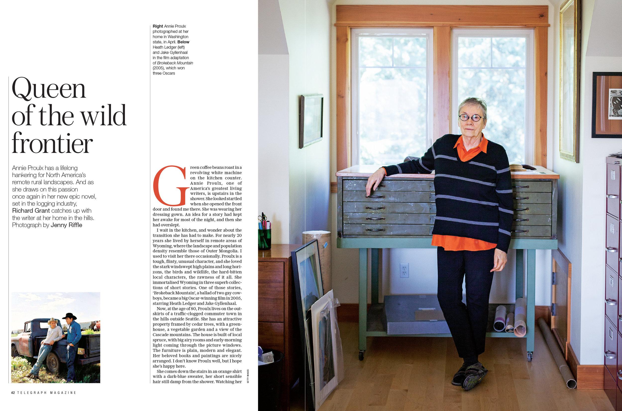 Annie Proulx for Telegraph Magazine