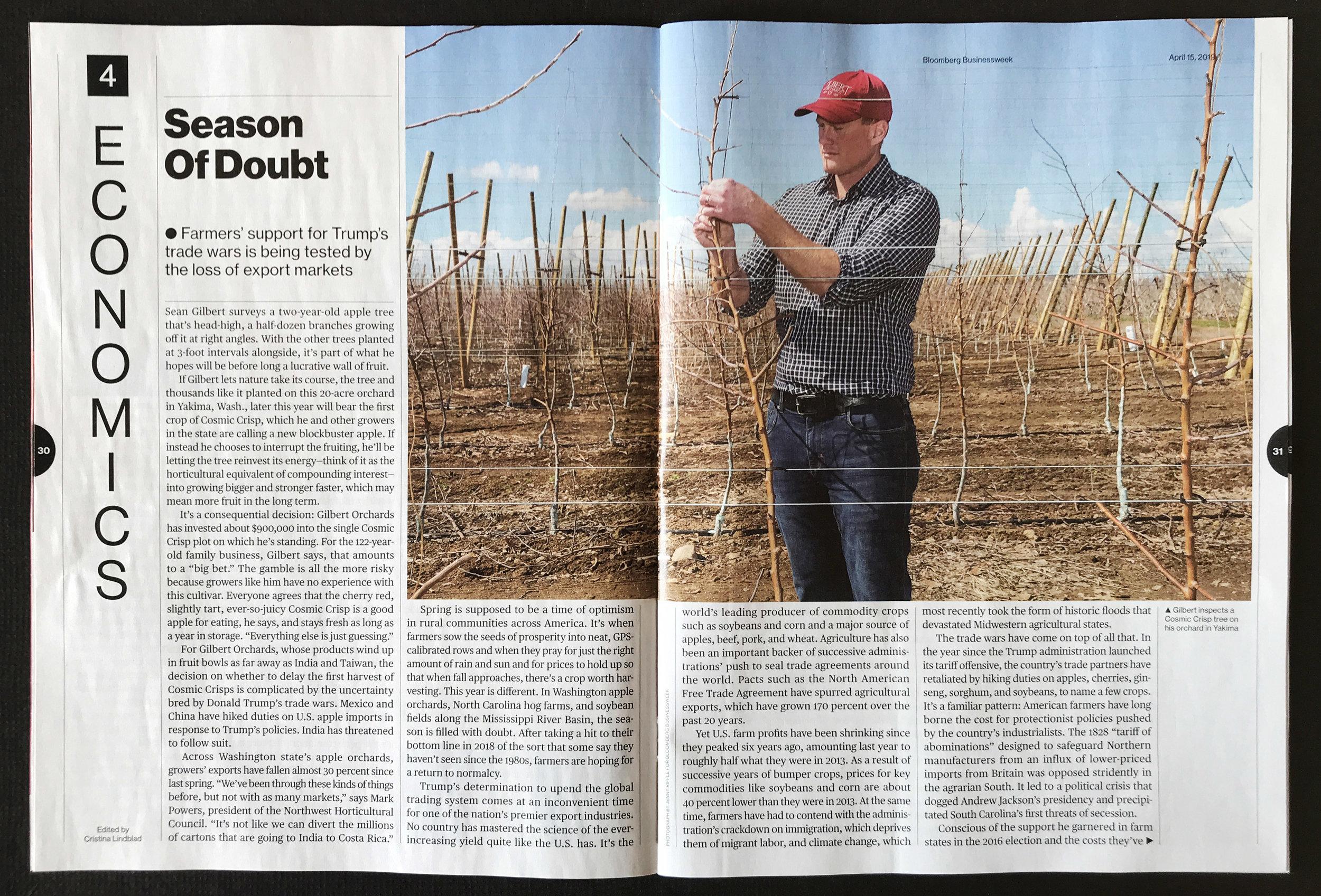 Sean Gilbert of Gilbert Orchards for Bloomberg Businessweek