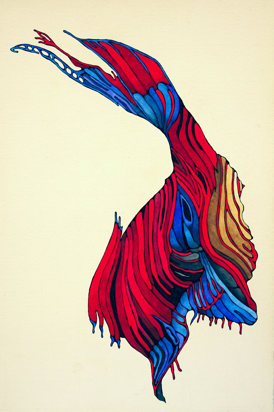 ANTELOPE CANYON ~ SUMMER, watercolor & ink on archival paper, 22 x 15 inches