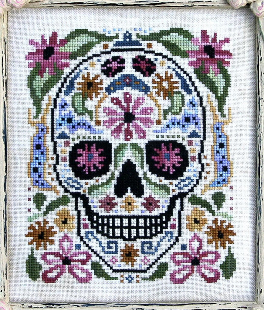 2-Prairie Moon Needlework, Cross Stitch Patterns, Skull-002.JPG