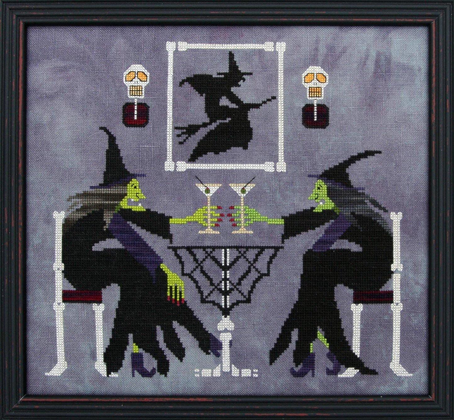 MARTINI WITCHES, Cross Stitch Pattern, Prairie Moon-002.JPG