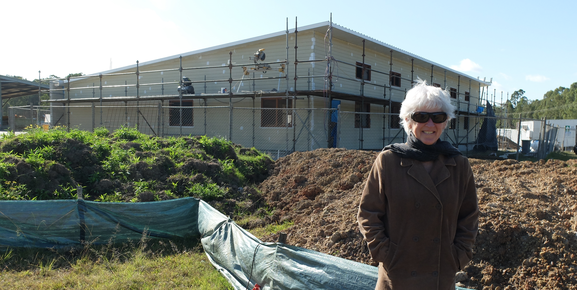 Linda keeps an eye on progress of one of her projects as it nears completion.