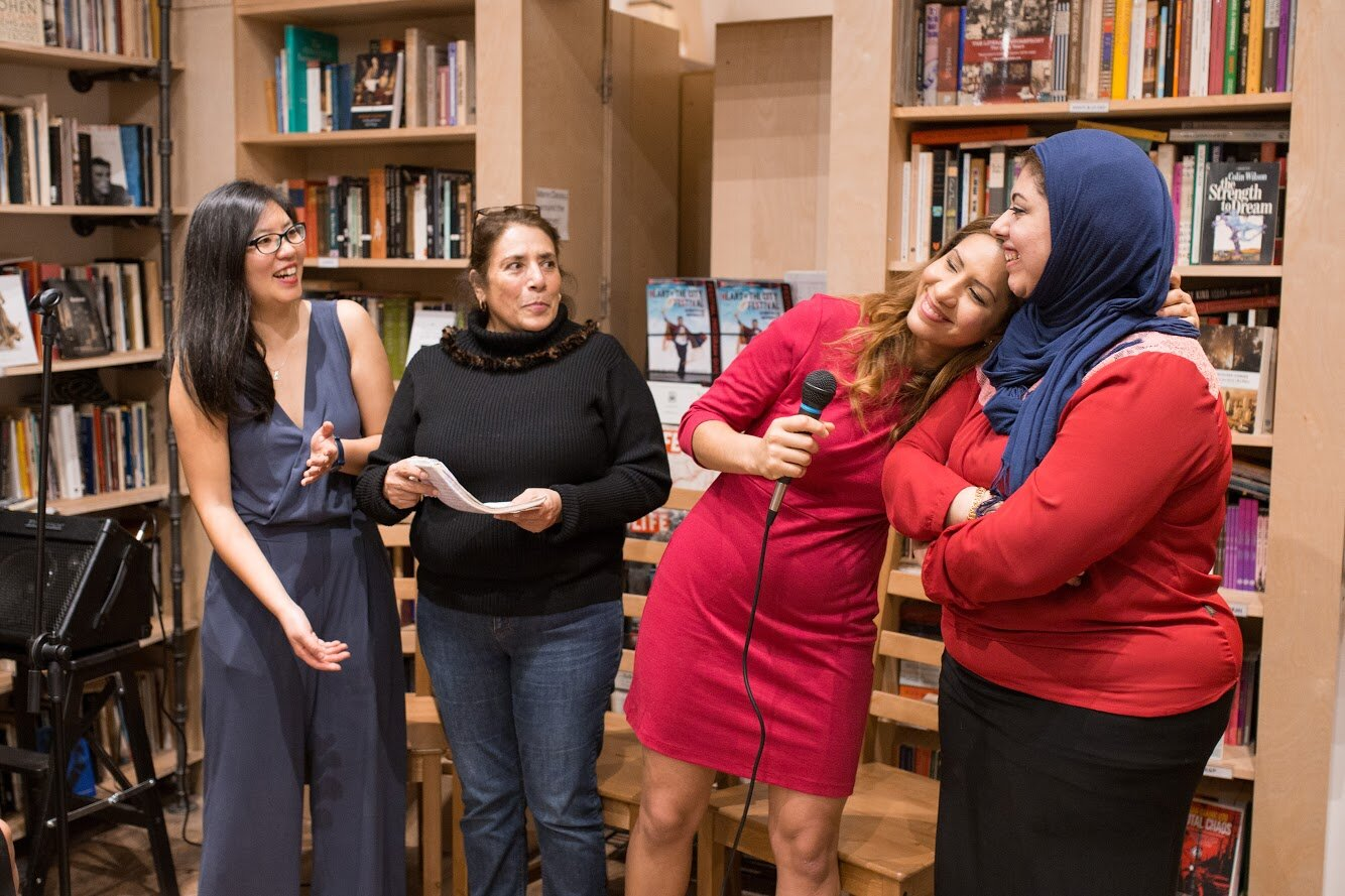 """Women shared food and stories together at the """"Storied Cuisine"""" food event in a local Indigenous community bookshop in October 2018."""