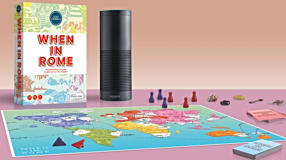 写真は、Mashable ' There's finally a board game powered by Amazon Alexa 'より