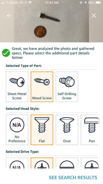 写真は、Techcrunch ' Amazon launches Part Finder built by technology it acquired from Partpic in 2016 '