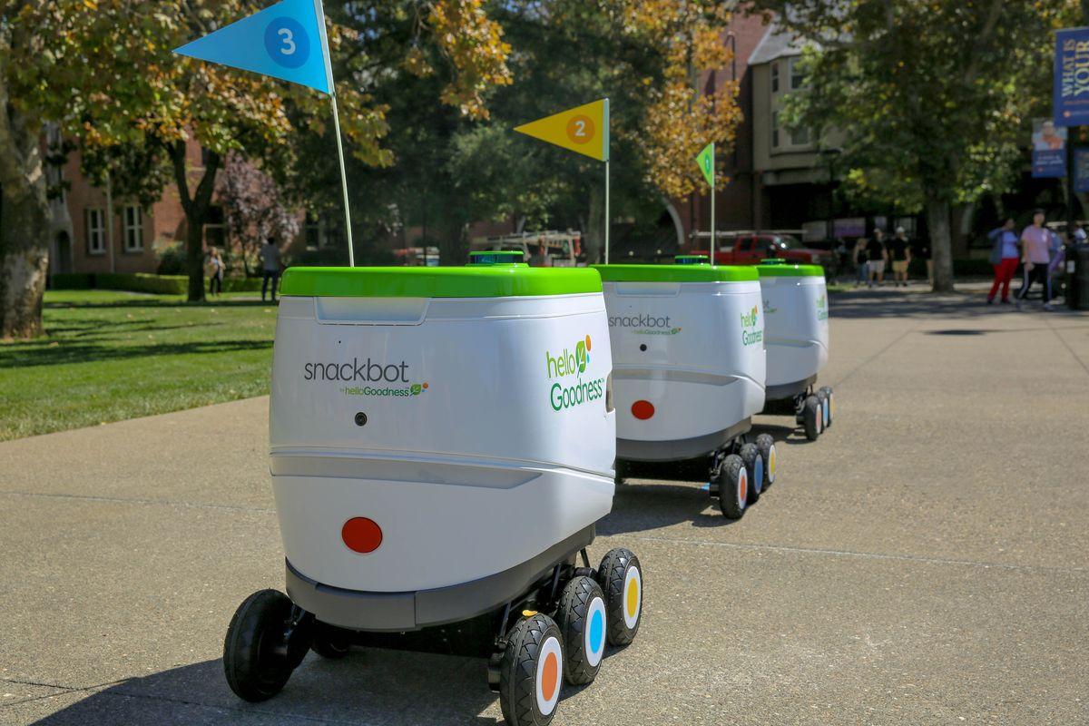 イメージは、The Verge ' PepsiCo is rolling out a fleet of robots to bring snacks to college students 'より