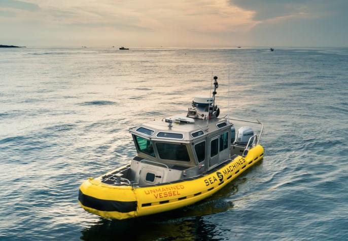 写真は、Sea Machines Roboticsの ホームページ より