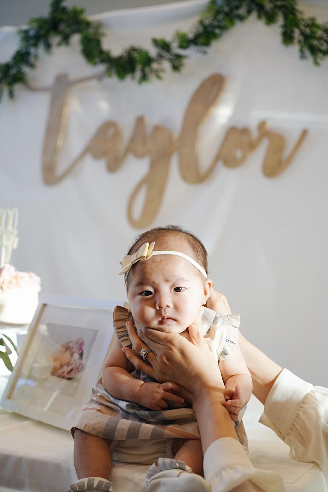Headband: BabyBling | Dress: Burberry Kids | Shoes: Freshly Picked