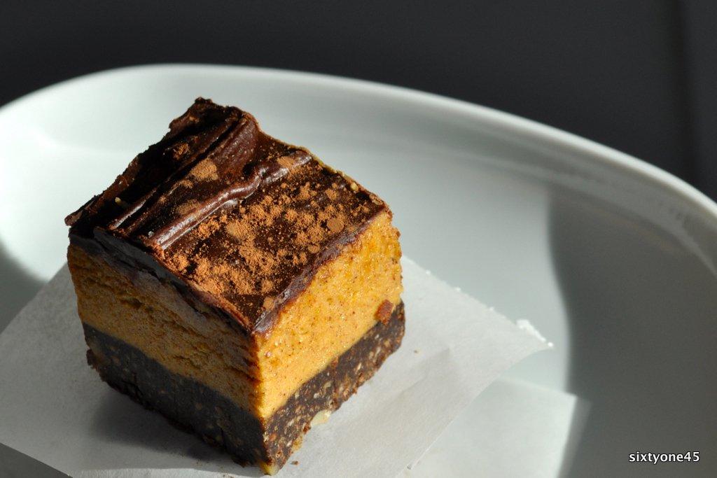 Pumpkin Nanaimo Bars by sixtyone45