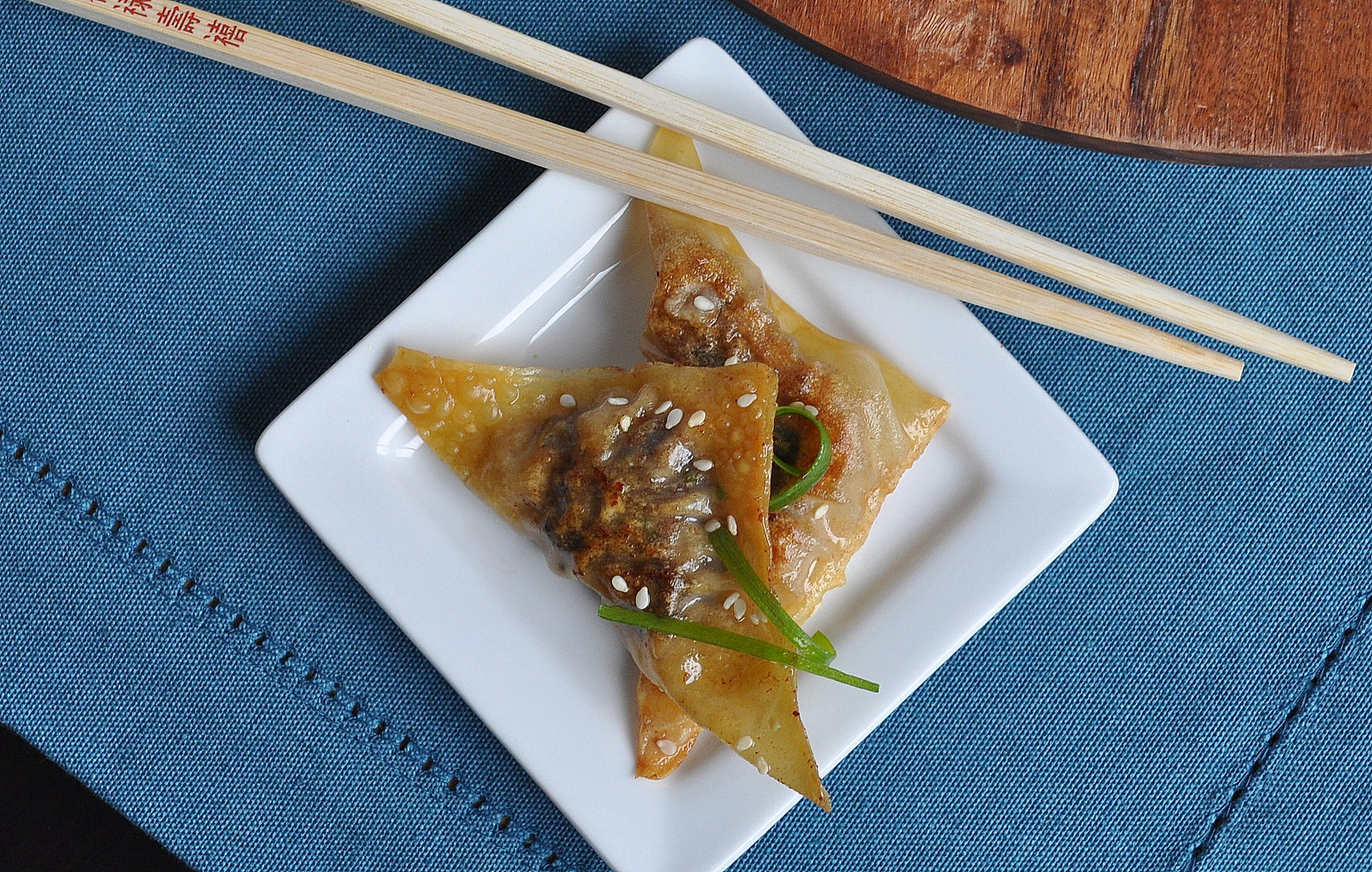 beef and mushroom pot stickers