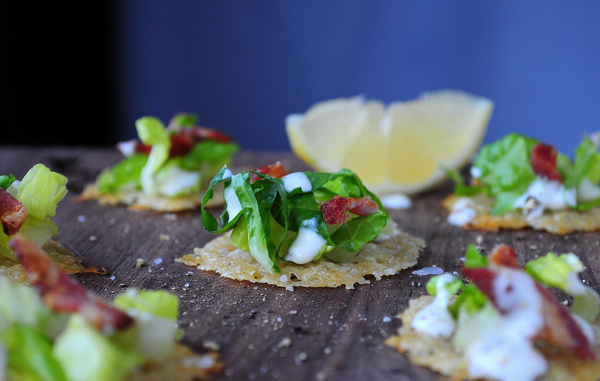 Caesar Salad Toasts