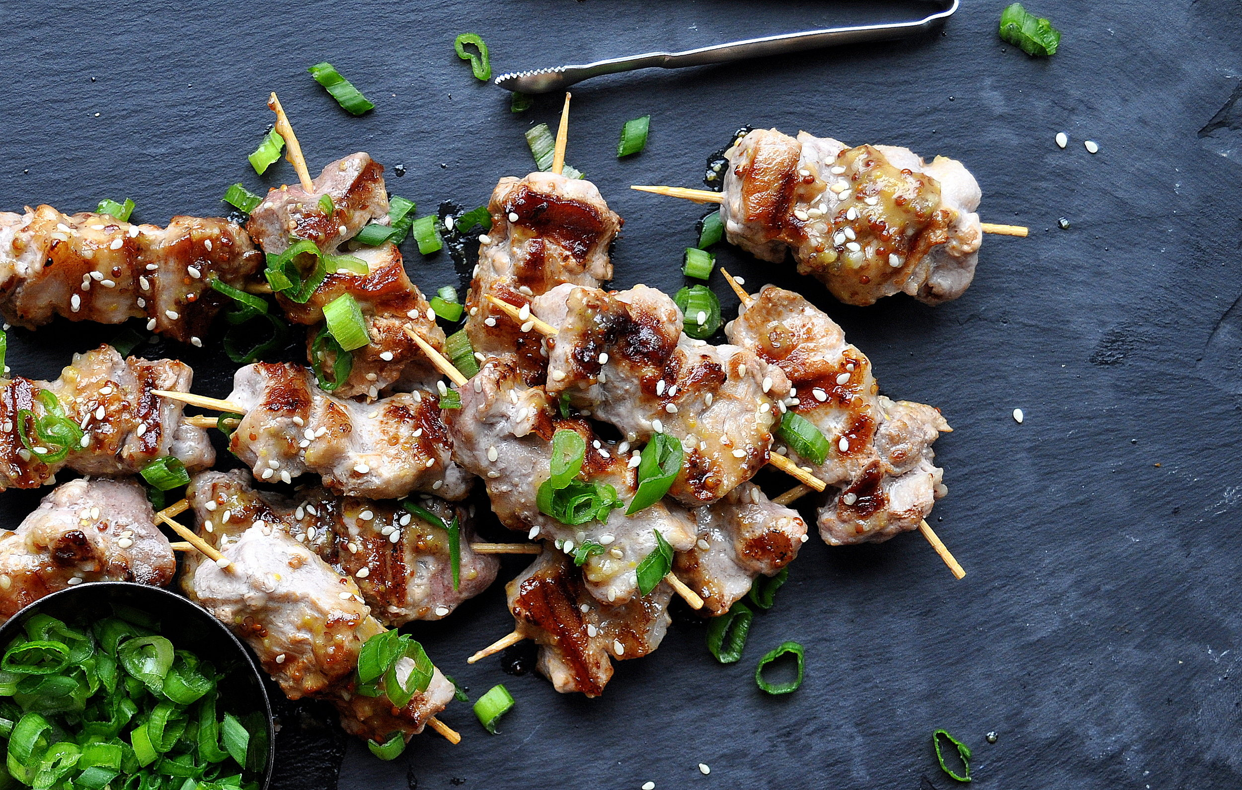Maple and Miso Pork Skewers