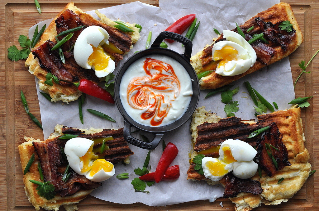 Eggs and Waffles by Food Well Said