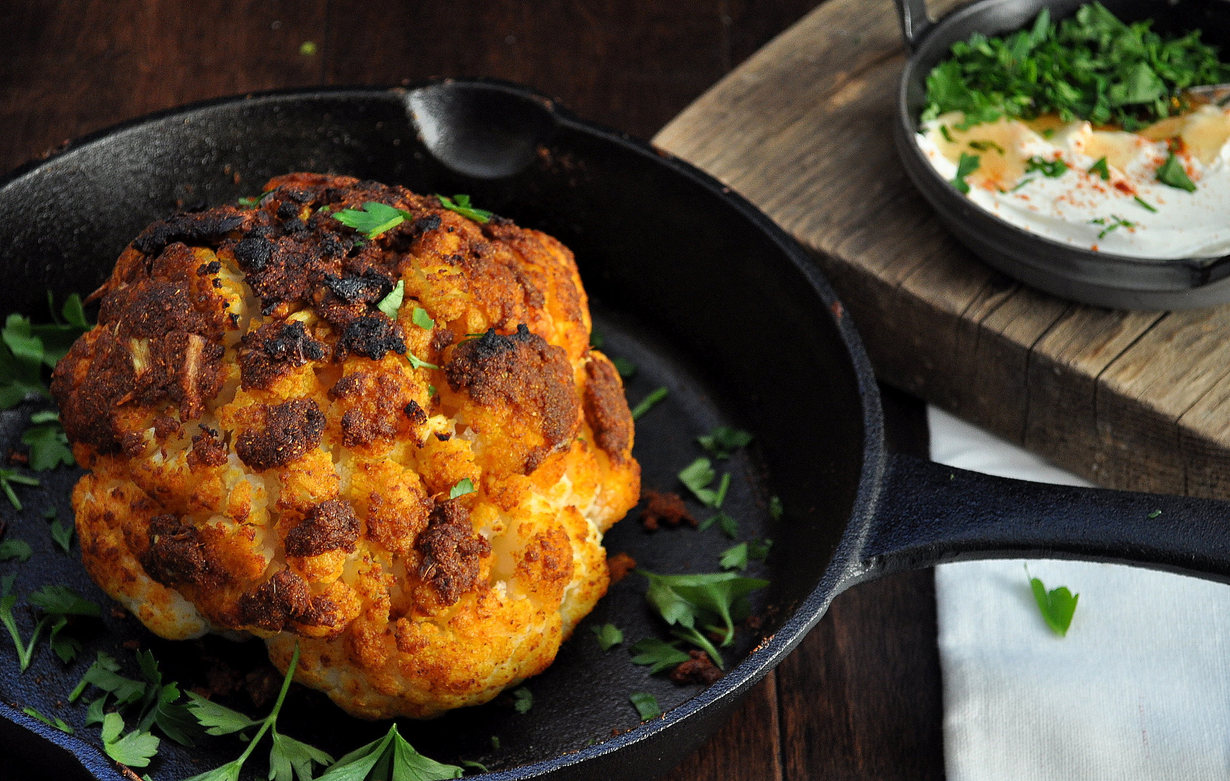 Whole Roasted Cauliflower by Food Well Said