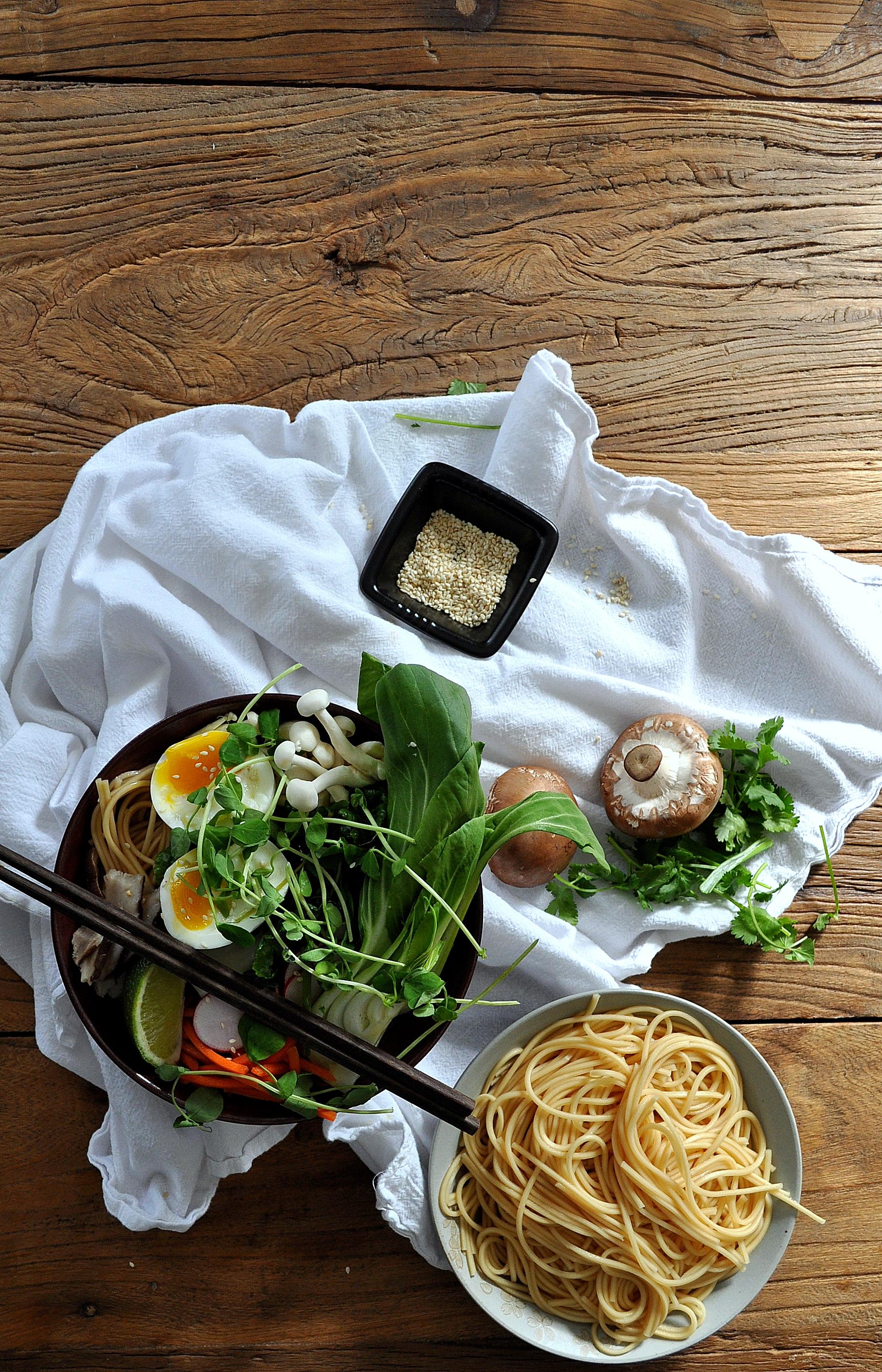 Mushroom Miso Ramen Soup by Food Well Said