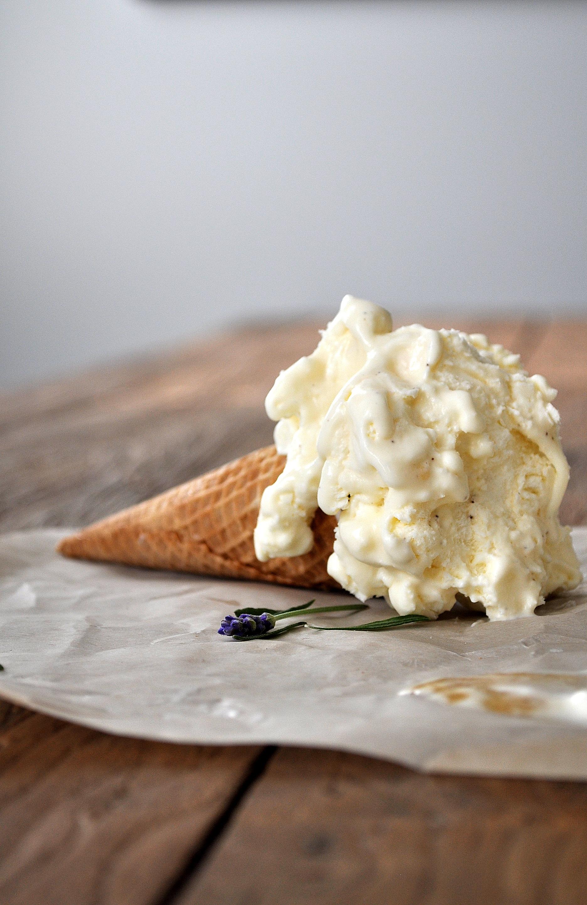 Salted Honey & Lavender Ice Cream | Food Well Said