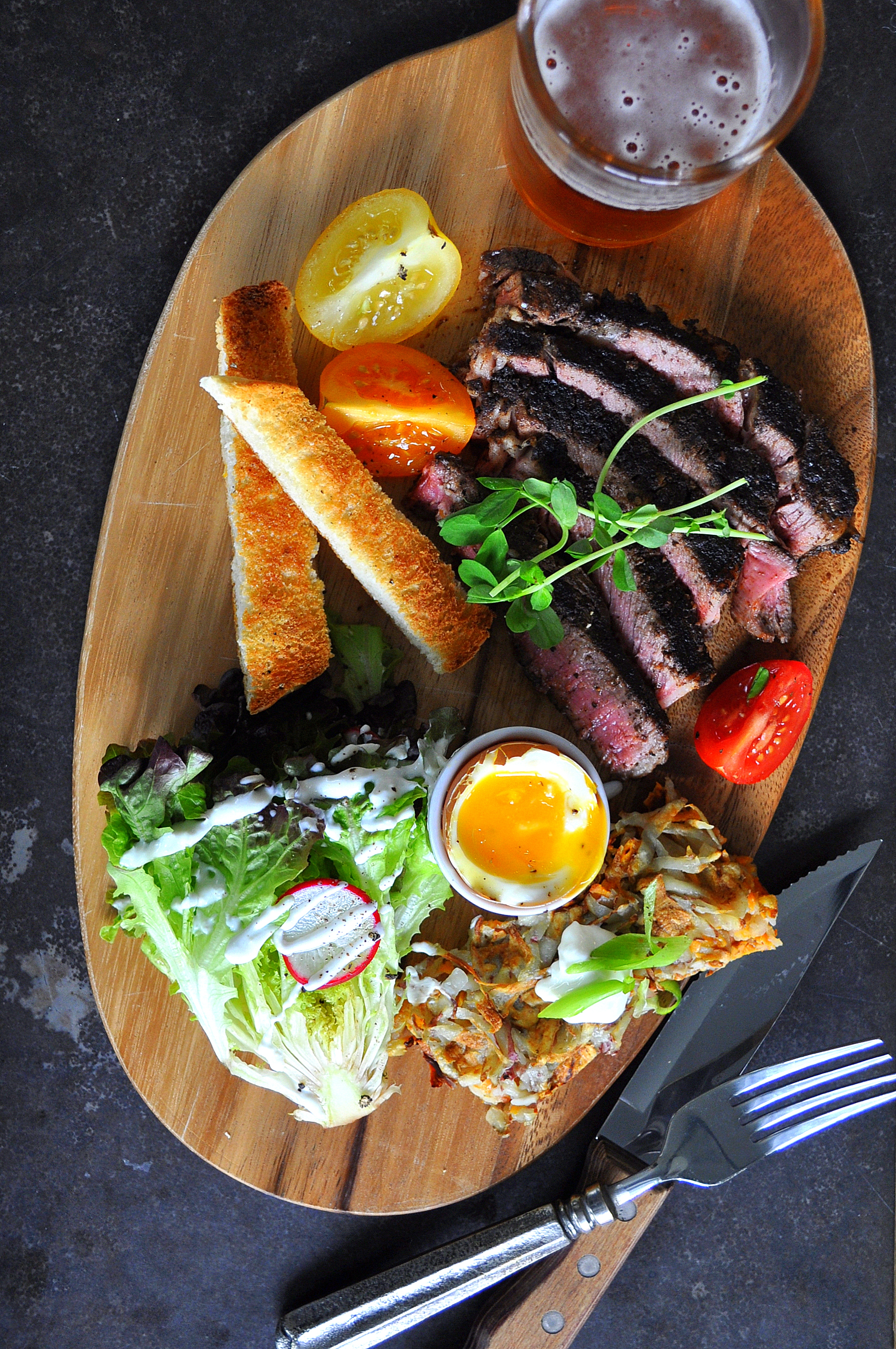 On Board in 20: Blackened Steak & Waffled Potatoes by Food Well Said
