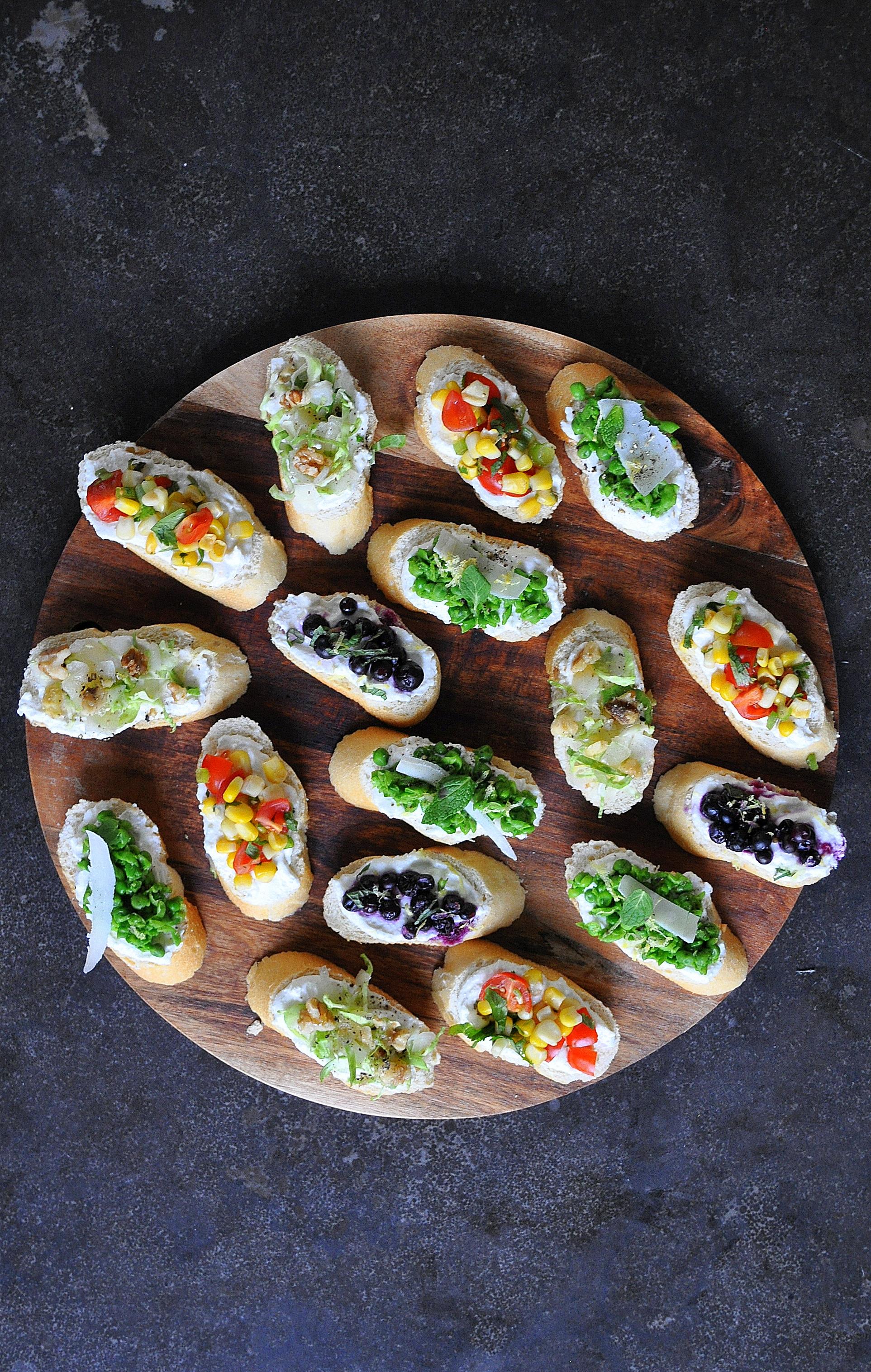 Assorted Vegetable Crostini by Food Well Said