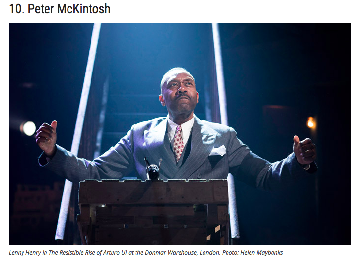 The Stage:Top 10 UK-based Theatre Designers -