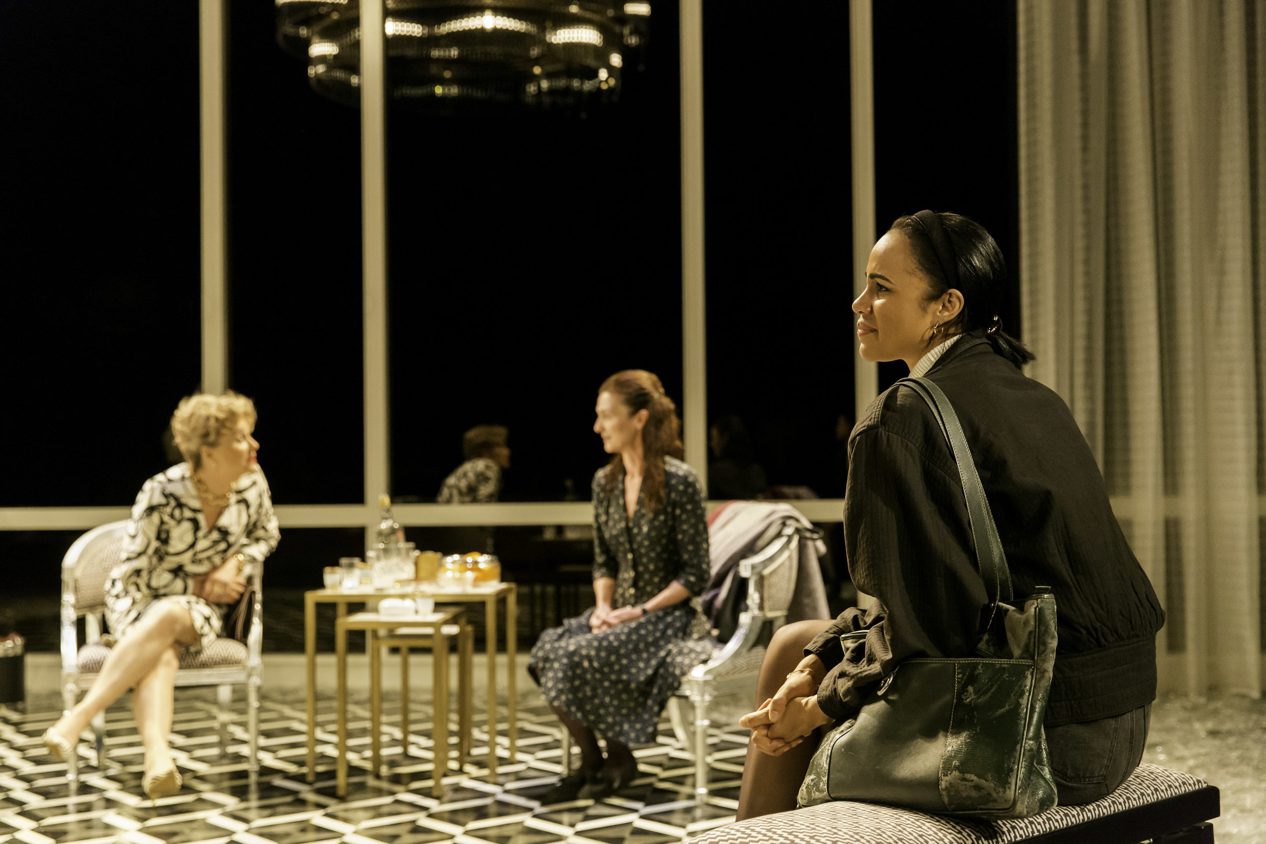 4. Sinéad Cusack (Micheleine), Michelle Fairley (Genevieve) and Zawe Ashton (Gilma). Photo by Johan Persson..jpg