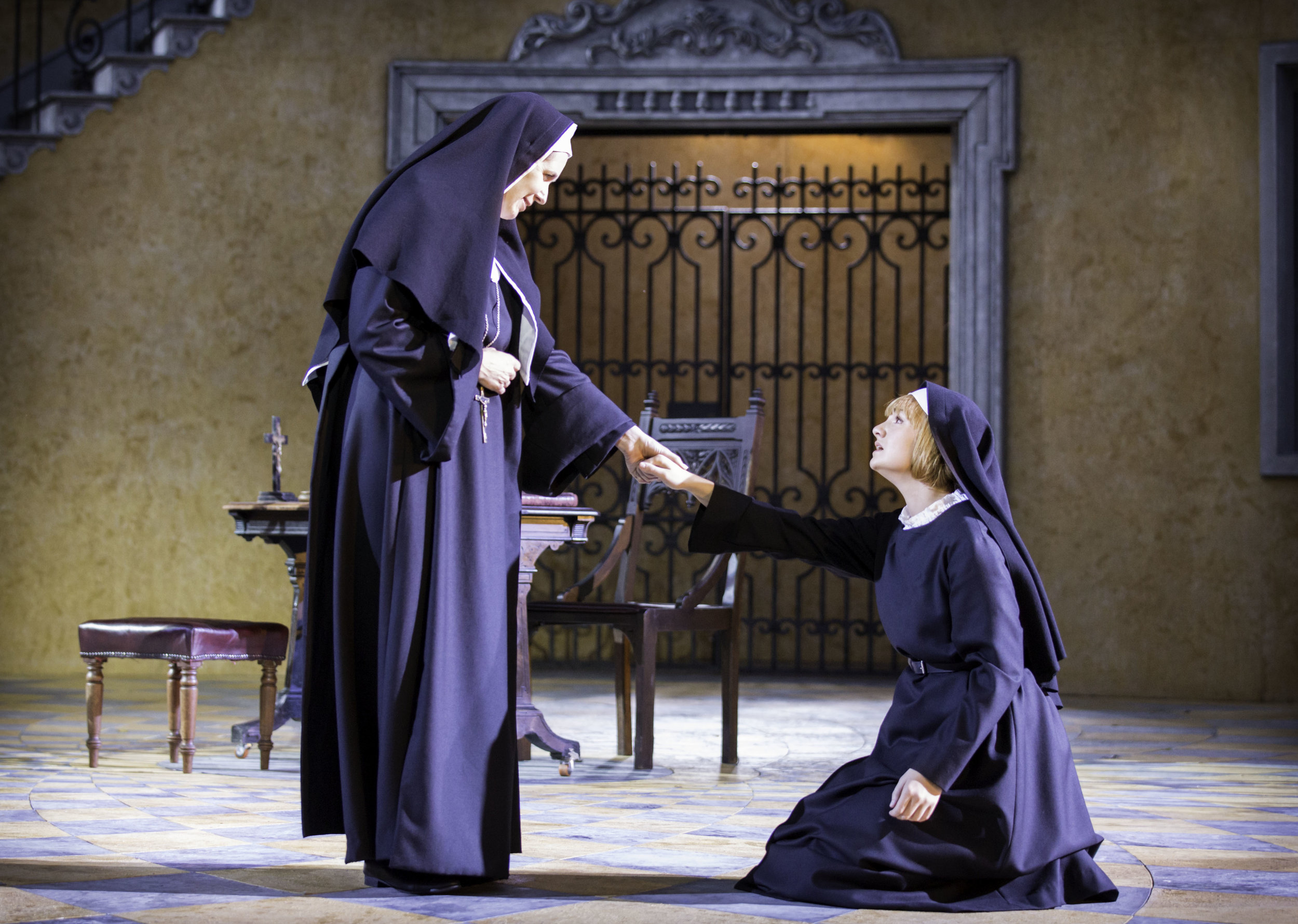 3. Helen Hobson and Charlotte Wakefield as Mother Abbess and Maria-1. Photo Johan Persson.jpg