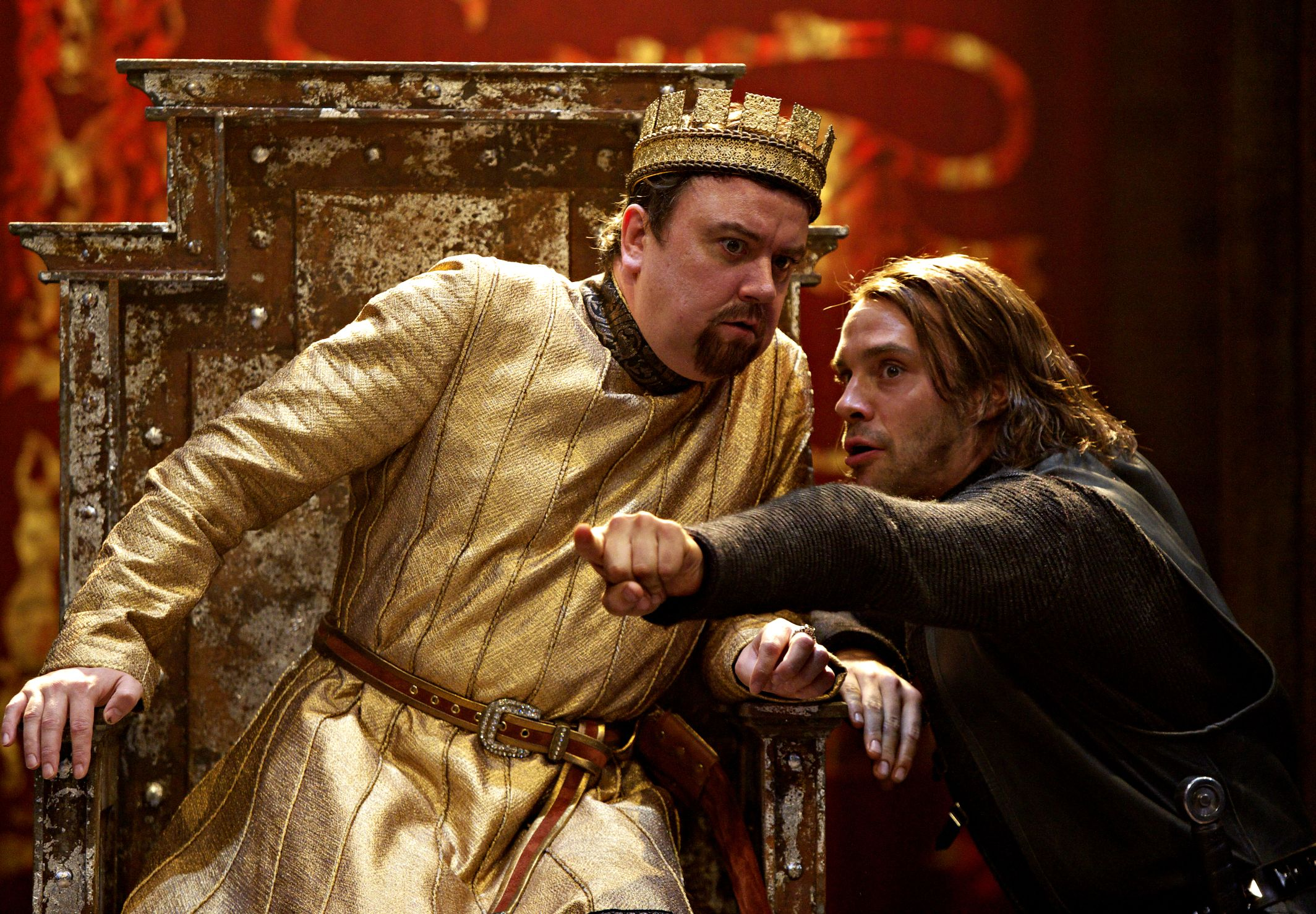 1. Richard McCabe (King John) and Joseph Millson (Philip The Bastard) 2, KING JOHN.jpg