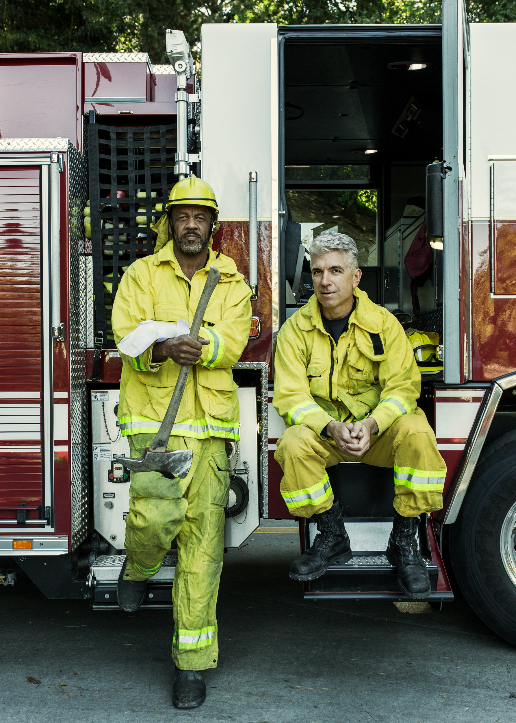 (L-R) Clifford Broome and Michael Shuken, Berkeley Fire Department