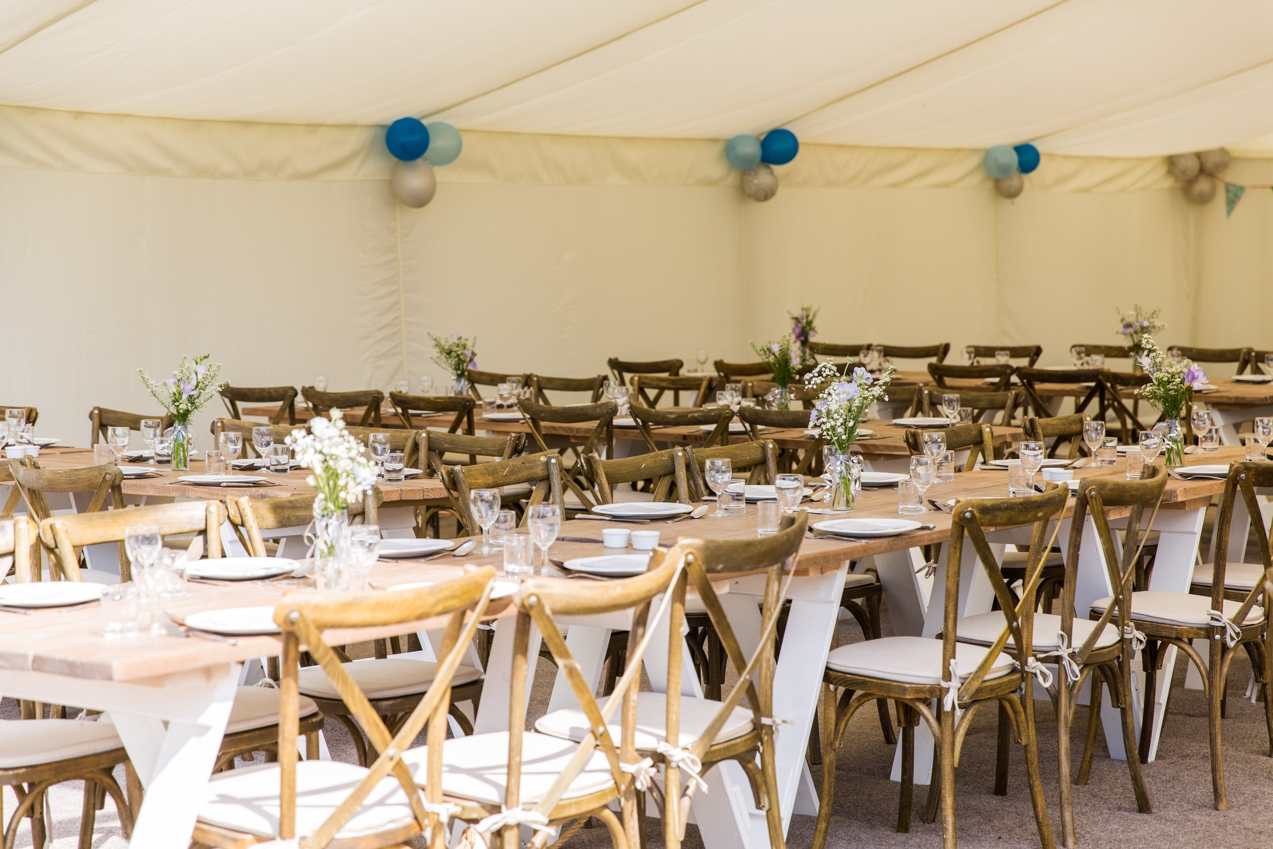Wedding catering marquee