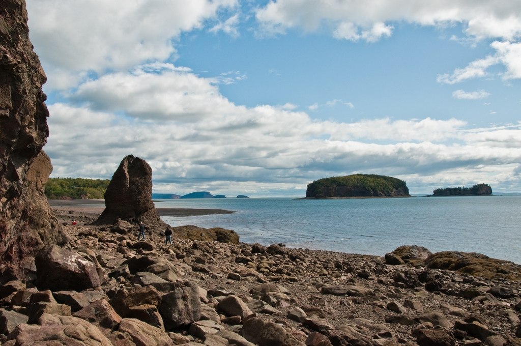 The Bay of Fundy - Wolfville is situated on the southern shore of the Minas Basin, the eastern end of the Bay of Fundy. It is here where the highest tides on earth occur. This is truly a wonder of the world.