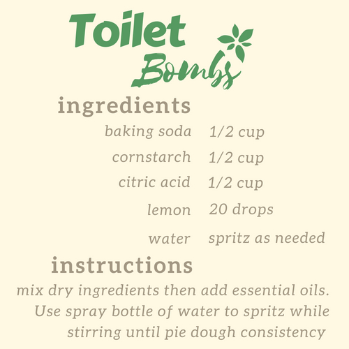diy toilet cleaner bombs