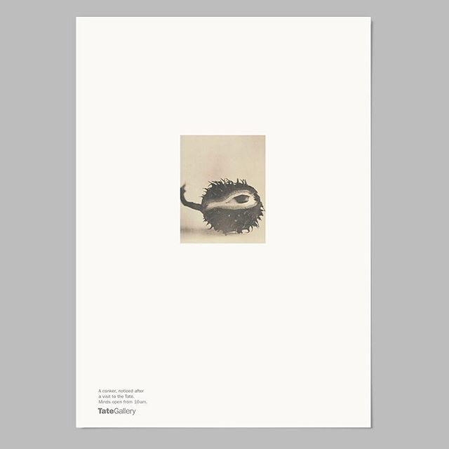 'A Conker, noticed after a visit to the Tate.' Poster, 1998. A reminder that it's all about the ideas. One of many lessons from the @paul_belford_ltd archive at last night's #Multiplicity by @foilcoltd 🙌🏻 . . . . . #graphicdesign #graphic #design #designevents #designtalks #advertising #addesign #paulbelford #paulbelfordltd #archive #studio #multiplicitylondon #foilco #foil #inspiration #tate