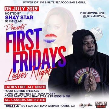 If you're looking to see @_biglarry75_ perform live come out to @blitzseafood Next Friday (July 5th) 🚀🚀🚀 See you there Dream Team...