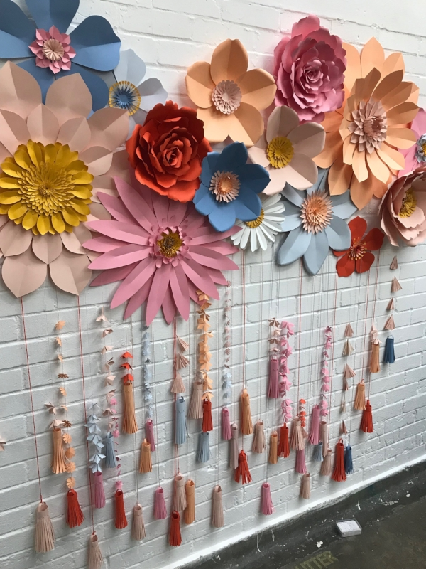 Gorgeous wall display by   May Contain Glitter.