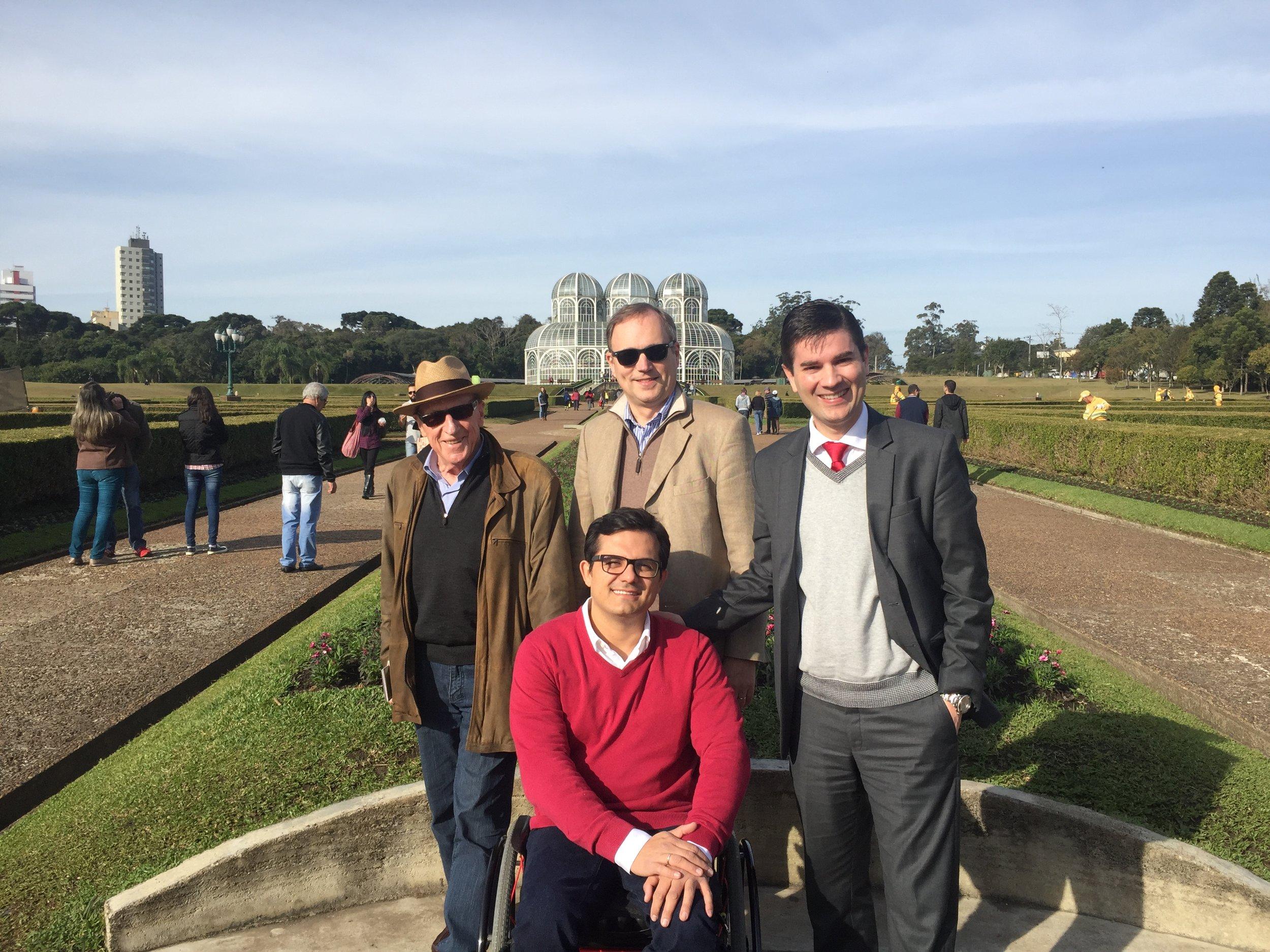 With professors Madersbacher, Chatier Kastler and Averveck. South Brazilian urology annual meeting. Curitiba 2016