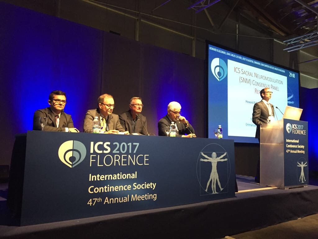 International Continence Society annual meeting. Florence, Italy. 2017