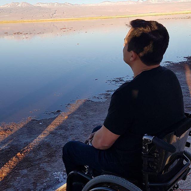 Laguna en desierto de Atacama, que paz!