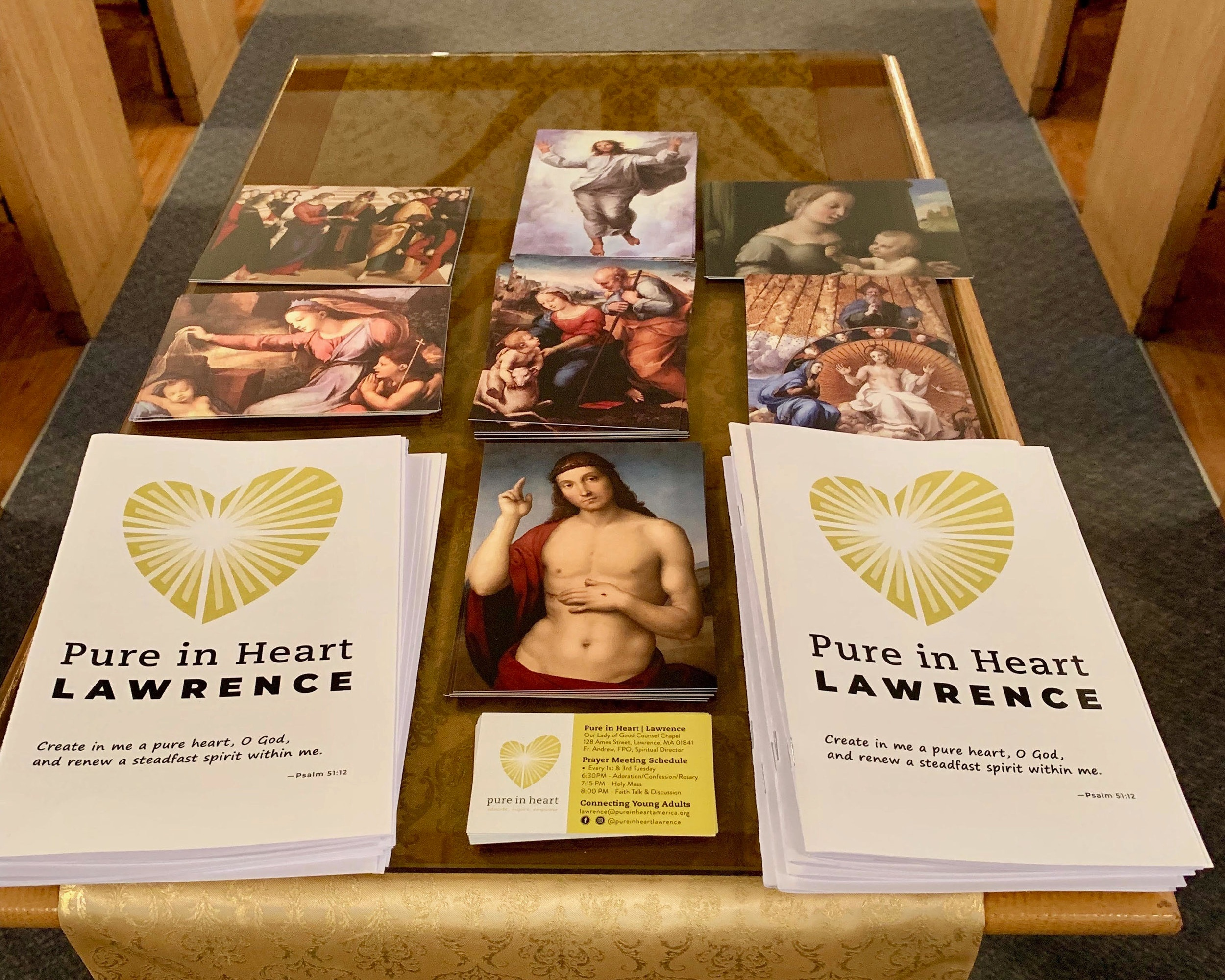 prayer cards and booklets for PIH Lawrence.jpg